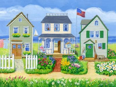 Beach Cottages by Geraldine Aikman