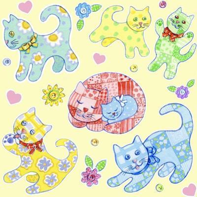 Calico Cats Cream by Geraldine Aikman