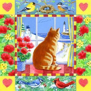 Cat Winter View by Geraldine Aikman