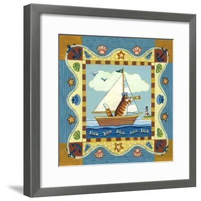 Folk Art Cat Sailing by Geraldine Aikman