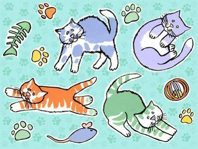 Fun Kitties Pawprints by Geraldine Aikman