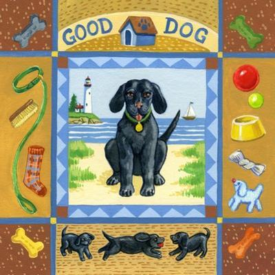 Good Dog Black Lab by Geraldine Aikman