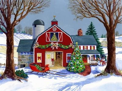 The Red Sleigh Barn by Geraldine Aikman