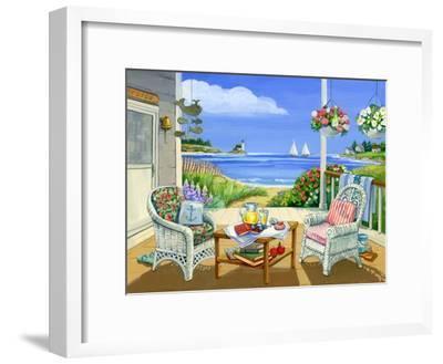 Wicker Porch by Geraldine Aikman