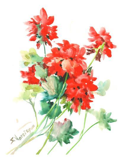 Geranium Red-Suren Nersisyan-Art Print