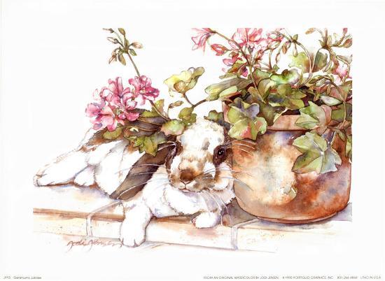 Geraniums Jubilee-Jodi Jensen-Art Print