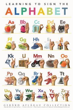 Children's American Sign Language Alphabet