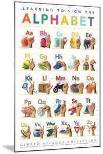 Children's American Sign Language Alphabet by Gerard Aflague Collection