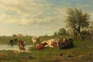Cows in the Meadow by Gerard Bilders