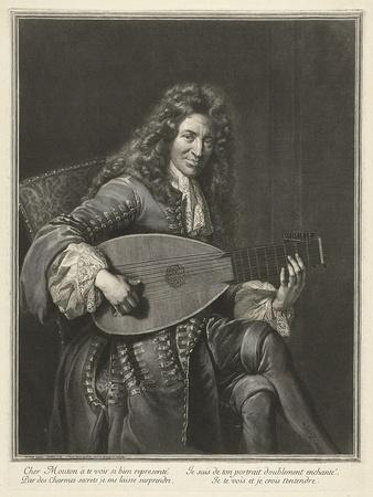 Portrait of the Lutenist and Composer Charles Mouton (C. 1626-171), Ca. 1695
