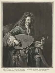 Portrait of the Lutenist and Composer Charles Mouton (C. 1626-171), Ca. 1695 by Gerard Edelinck