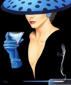 Spotted Hat Lady II by Gerard Kelly