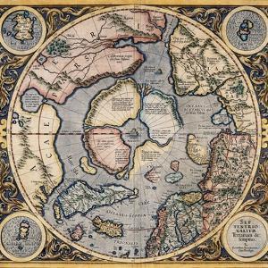 Septentrionalium Terrarum Descriptio 1569 by Gerard Mercator