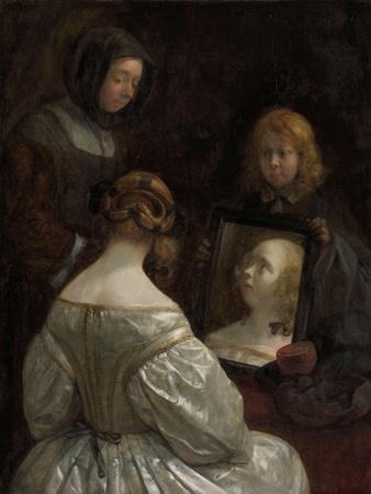 Woman at a Mirror, c. 1652