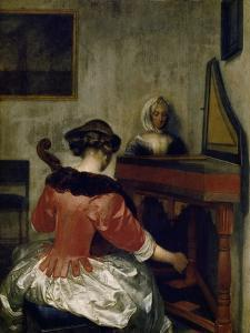 The Concert, about 1675 by Gerard ter Borch