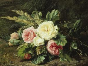 Study of Roses by Gerardina Jacoba Backhuysen