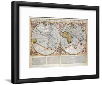 Double Hemisphere World Map, 1587