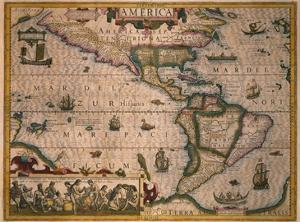 Map of America by Gerardus Mercator