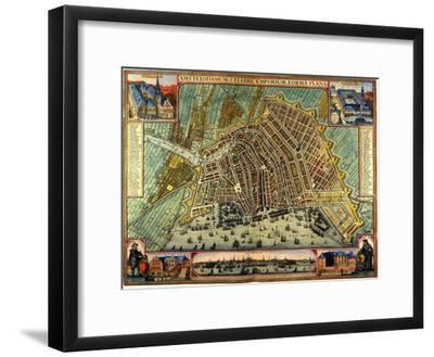 Map of Amsterdam 1633