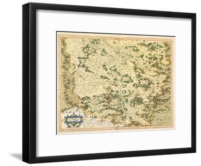 Map of Lotharingia, from 'Atlas Sive Cosmographicae Meditationes De Fabrica Mundi Et Fabricati…