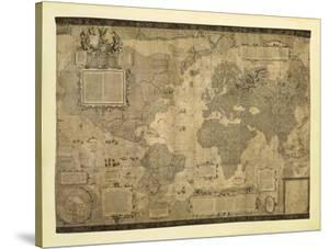 Map of the World by Gerardus Mercator