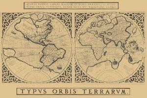 Mercator's World Map, 1524 by Gerardus Mercator