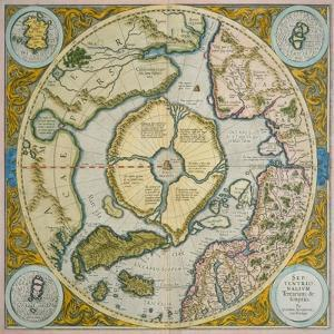 Septentrionalium Terrarum Descriptio, 1595 by Gerardus Mercator