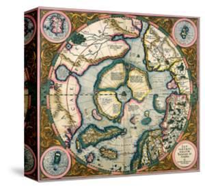 Septentrionalium Terrarum Descriptio, Map of the Arctic, 1595 by Gerardus Mercator