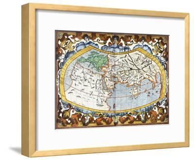 World Map, Entitled 'Unviersalis Tabula Iuxta Ptolemeum', Plate 1 from Mercator's Edition of…