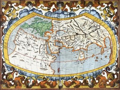 World Map, Entitled 'Unviersalis Tabula Iuxta Ptolemeum', Plate 1 from Mercator's Edition of…