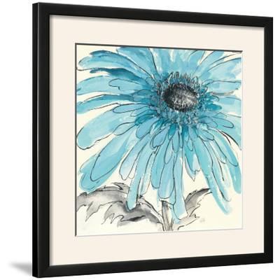 Gerbera Blue III-Chris Paschke-Framed Photographic Print