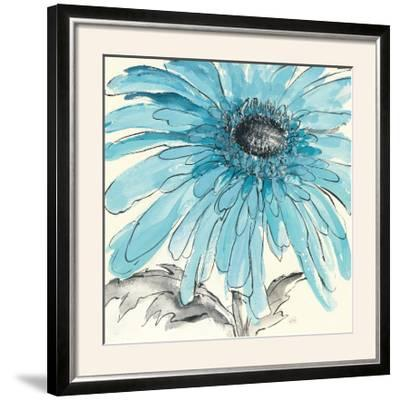 Gerbera Blue III-Chris Paschke-Framed Photographic Print