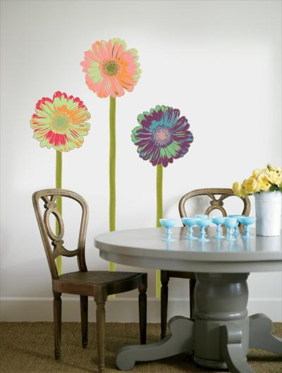 Gerberas with Stems--Wall Decal