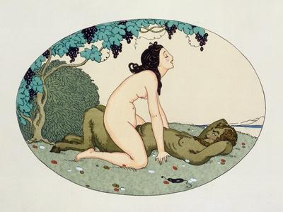Satyr and Nymph, Illustration from the Pleasures of Eros, 1917