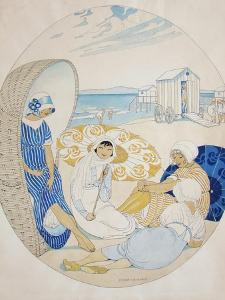 Chatting on the Danish Beach by Gerda Wegener