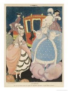 Cinderella is Given the Most Precious of All Gifts in War- Time France, a Pair of New Shoes by Gerda Wegener