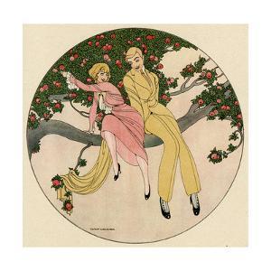 Couple in Tree 1914 by Gerda Wegener