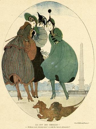 German Dachshunds 1916 by Gerda Wegener