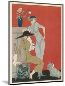 Pet Dog, Probably a Skye Terrier, with Its Fashionable Owners by Gerda Wegener