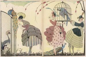 "Satire on the Current ""Peacock"" Modes by Gerda Wegener"