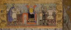 Åsmund in the King's Hall by Gerhard Munthe