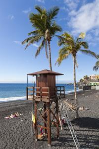 Beach of Puerto Naos, La Palma, Canary Islands, Spain, Europe by Gerhard Wild
