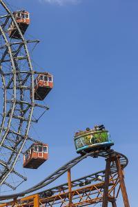 Big Wheel and Rollercoaster, 'Prater', 2nd District, Vienna, Austria, Europe by Gerhard Wild