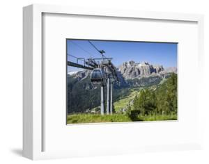 Cable Car on the Col Pradat, in the Valley Kolfuschg, Sella Behind, Dolomites, South Tyrol by Gerhard Wild