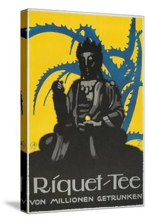 German Advertisement for Riquet Tea, Buddha and Thorn Bush