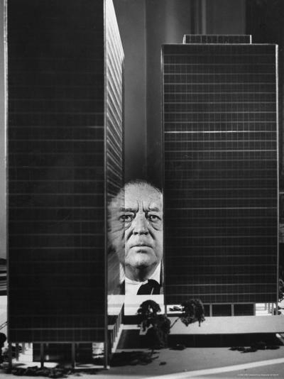 German Architect Mies Van Der Rohe and his Modern Apartment Buildings Designed for Lake Shore Drive-Frank Scherschel-Premium Photographic Print
