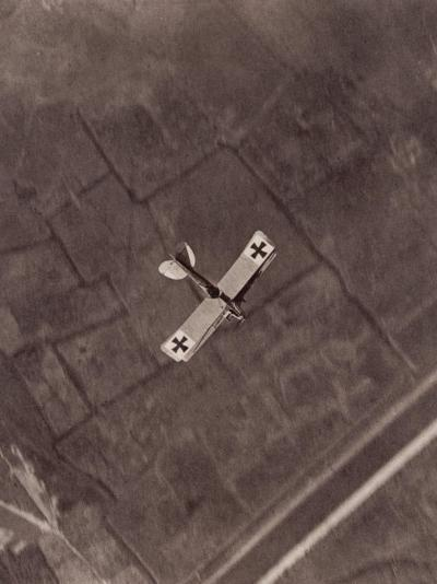 German Aviatik Plane Photographed in Mid-Air by a Belgian Reconnaisance Aircraft Over Holland--Photographic Print