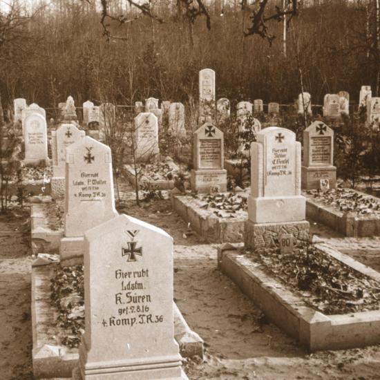 German cemetery, Carlepont, Northern France, c1914-c1918-Unknown-Photographic Print