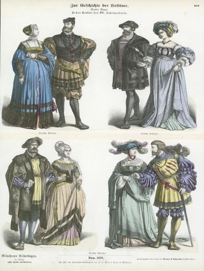 German Costumes, Early 16th Century--Giclee Print