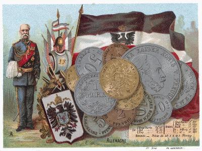 German Currency--Giclee Print